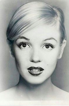 Marilyn with a pixie hair cut.... she could have rocked a pixie
