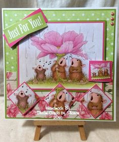 House Mouse using cardmaking pad from Joanna Sheen x