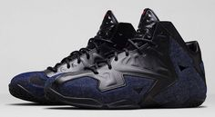 "The Nike LeBron 11 EXT ""Denim"" sneakers are set to make their release this weekend. Description from undergroundsoles.com. I searched for this on bing.com/images"