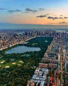 Beautiful shot of Central Park from above by Marco DeGennaro