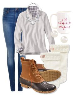"""i want fall. now."" by elizabethannee ❤ liked on Polyvore featuring moda, Dr. Denim, Hunter, L.L.Bean, Accessorize, Kate Spade, Moon and Lola, women's clothing, women's fashion y women"