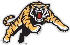 Hamilton Tiger-Cats Secondary Logo on Chris Creamer's Sports Logos Page - SportsLogos. A virtual museum of sports logos, uniforms and historical items. Tiger Logo, Cat Logo, Big Cats, Cool Cats, Tiger Images, Canadian Football League, Word Mark Logo, Mascot Design, Cat Memorial