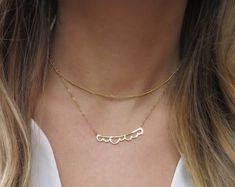 Minimalist and Dainty Layered Necklaces and Jewlery by LandonLacey Jewlery, Jewelry Necklaces, Delicate Gold Necklace, Sympathy Gifts, Bridal Jewelry, Fine Jewelry, Minimalist, Silver Lining, Gemstones