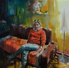 """Saatchi Art Artist michele petrelli; Painting, """"Nicoletta"""" #art"""