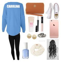 Go Tar Heels! by lilypope on Polyvore featuring polyvore, beauty, Maybelline, NARS Cosmetics, MAC Cosmetics, Essie, Honora, Avery, Tory Burch, M&Co and Converse