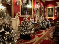 Christmas at Chatsworth House! Decadent! Mark and I should visit as we'll be nearby :)