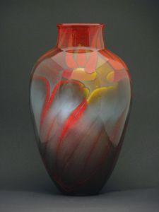 Fire Series Roman Vase: Steven Main: Art Glass Vase - Artful Home