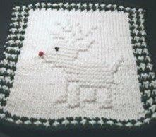 Rollicking Reindeer Dishcloth Pattern