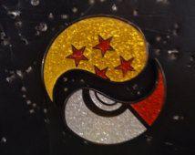 Pokeball/Dragon Ball Yin Yang 2 Piece Hat Pin Set Glitter Variant(Matching #'S)(FREE SHIPPING/TRACKING)