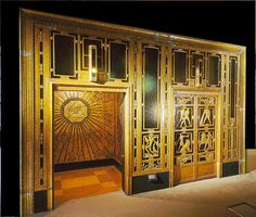 Art Deco Elevator at Selfridges, London. (Clearly I was impressed with the store!)