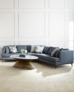Capri Curved Sectional Sofa by Ambella at Horchow.