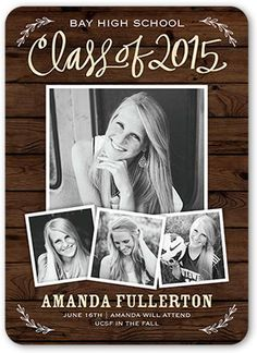 Memorable Class 5x7 Stationery Card by Stacy Claire Boyd. Celebrate the new graduate with this unique graduation announcement. Personalize with the graduate's name and the event details.