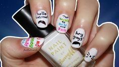 These Dan and Phil nail designs show how creative the Phandom can be!