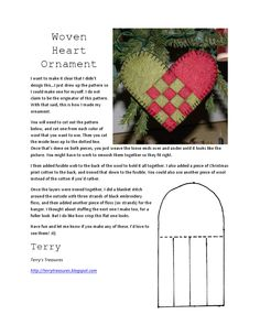 Woven Heart Ornament - might be a good idea for the Holly Bazaar