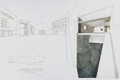 Raveevarn Choksombatchai    Thai (1960)  Ralph Nelson    American (1961)  Movement 7, from Thailand Unfolding House  1994-1996  architectural drawing | ink and watercolor on paper      Source: http://www.sfmoma.org/explore/collection/artwork/29785#ixzz24WUqjoMy   San Francisco Museum of Modern Art