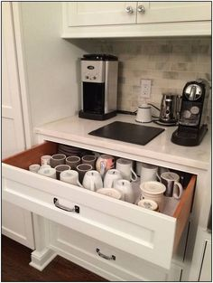 55 Best And Easy Kitchen Storage Organization Ideas Kitchen Remodel Ideas Easy Ideas Kitchen Organization Storage Coffee Bar Home, Coffee Area, Coffee Nook, Coffee Cups, Coffee Corner Kitchen, Coffe Bar, Coffee Bar Ideas, Coffee Cup Storage, Coffee Station Kitchen