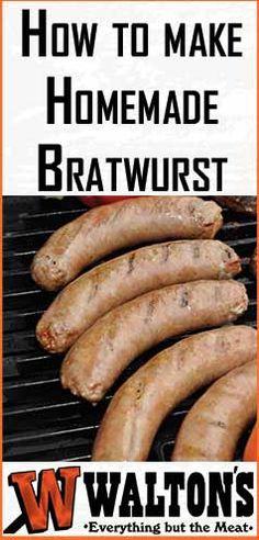 How to Make Homemade Bratwurst Bratwurst Sausage, Sausages, Bratwurst Recipes, Homemade Breakfast,