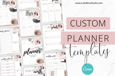 Ad: Canva Blush Planner Templates by Lady Boss Studio on Have you been dreaming of creating the PERFECT planner for your audience to either grow your list or make some moulah? I know, the thought Daily Planner Pages, Weekly Planner, Free Planner, Stationery Templates, Stationery Design, Sign Up Page, Custom Planner, Perfect Planner, Branding Kit