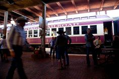 Train arrival inside the Fort Worth Stockyards by Morten Rand-Hendriksen, via Flickr Fort Worth Stockyards, Train Station