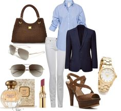 business casual, created by lecron on Polyvore