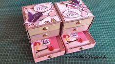 Anleitung/ Tutorial für eine Rittersport-Mini-Kommode für 3 Rittersport-Mini-Schokoladentafeln, gestaltet mit Stampin' Up!-Produkten für jede Art von Anlass