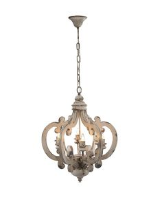 """Wood and Metal Chandelier 19.25"""" X 25"""""""