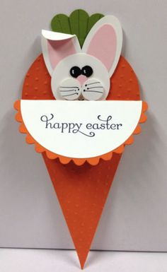 Bunny Punch Art Stampin Up Easter Pocket Card Kit 5 Cards | eBay