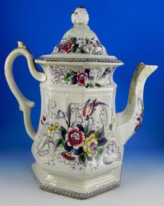 "Livesly, Powell & Co.  English Antique ""Paradise"" Teapot."