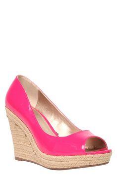 Billie Pink Patent Peep Toe Wedge (Wide Width) #MyTorridSummer