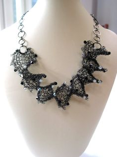 Wire Spiral Necklace Knitting Kit - Black. £18,00, via Etsy.