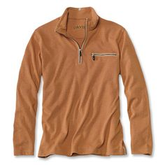 Run your fingers just once along the sleeve of this exceptionally soft men's quarter-zip pullover and you'll be hooked. A special blend of polyester, cotton, and modal creates a smooth hand that will make even mundane journeys more luxurious. The heavy zipper and beefy teeth on the neck closure and functional chest pocket add a rugged touch.