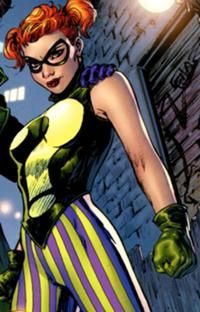 Enigma  - Slightly less famous than Duela Dent...but her costume is just as colorful :D
