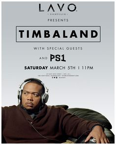awesome Timbaland at LAVO New York 2016-03-05 23:00:00 tickets Check it out at https://discotek.club/concerts/timbaland-at-lavo-new-york-2016-03-05-230000-tickets/