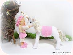 Jahreszeitentisch - Elfe mit Einhorn Blumenkinder Jahreszeitentisch - ein Designerstück von susannelfe bei DaWanda