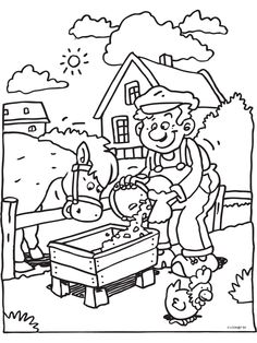 Boer kleurplaten.nl Coloring Pages For Kids, Adult Coloring, Coloring Books, Bible Crafts, Paper Crafts, Rainy Day Activities, Stencil Patterns, Colorful Drawings, Diy Garden Decor