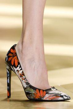 Arts and Crafts: Hand-painted heels at Roberto Cavalli Fall 2013