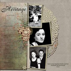 A Shared Heritage -- LOVE the use of the doily
