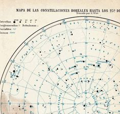 Star Chart Astronomy Constellations Map Celestial Sphere 1923 Antique