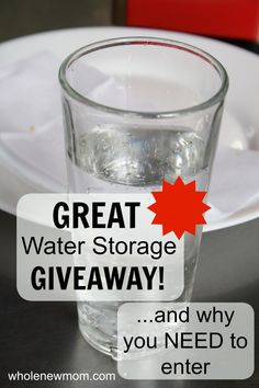 Water Brick Giveaway! Emergency Water Storage