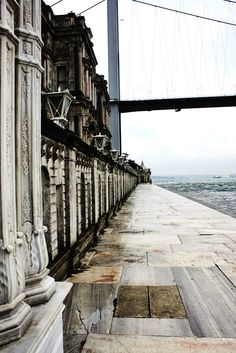 Beylerbeyi Sarayi, Istanbul 1860s palace on the Bosporus, now dominated by a suspension bridge!
