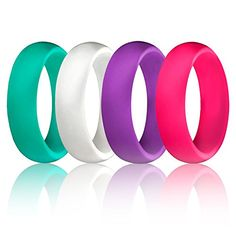 ROQ Silicone Wedding Ring For Men And Women Ausdauertraining 6mm Affordable Silicone Rubber B...