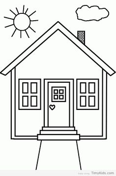 House Coloring Pages. Please print this house coloring pictures on this page. You can see a variety of home so that your children can spend some fun time colori Family Coloring Pages, House Colouring Pages, Preschool Coloring Pages, Coloring Pages To Print, Free Printable Coloring Pages, Coloring Book Pages, Coloring Pages For Kids, Coloring Sheets, Kids Coloring