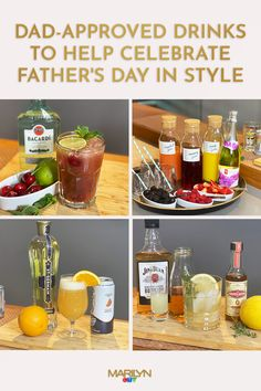 Treat dad to these custom-made #cocktails and #mocktails that even the kids can make!