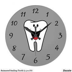 Animated Smiling Tooth Wallclock