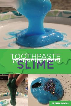 Make your own toothpaste slime with this easy DIY slime recipe. Full picture instructions on our blog.