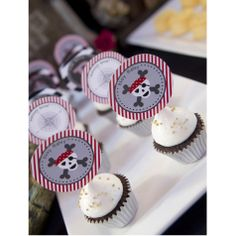 Pirate Birthday Party Printables Collection - Black, Red and Gray