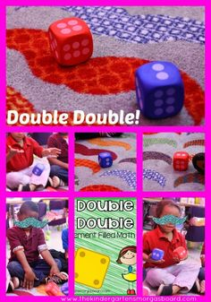 A Kindergarten Smorgasboard Double Double Addition Game! In preschool we can use it to practice counting on as kids are ready for this (towards the end of the year) :Smedley's Smorgasboard of Kindergarten: Math For Kids, Fun Math, Math Games, Math Activities, Therapy Activities, Dice Games, Doubles Addition, Addition Games, Math Addition