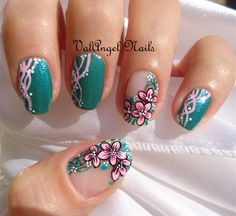 Nail art designs and ideas for different types of nails like, long nails, short nails, and medium nails. Check out more all Nail art designs here. Long Acrylic Nails, Acrylic Nail Art, Acrylic Nail Designs, Acrylic Tips, Simple Nail Art Designs, Easy Nail Art, Cool Nail Art, Floral Nail Art, Floral Theme