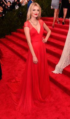 Lily Donaldson in bespoke Topshop | Met Gala 2015 red carpet pictures | Met Ball fashion - Costume Institute Gala | Harper's Bazaar