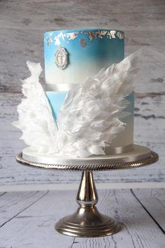 Angel wings Cake - Cake by Cake Addict Cakes To Make, Cakes And More, How To Make Cake, Torta Angel, Angel Cake, Beautiful Cakes, Amazing Cakes, Fondant Cakes, Cupcake Cakes